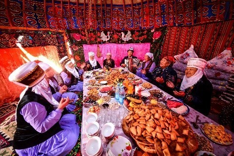 Traditional hospitality in Kyrgyzstan